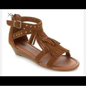 Minnetonka suede Monaco gladiator sandals